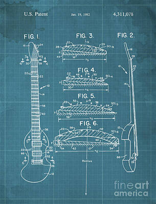 Royalty-Free and Rights-Managed Images - BOW PLAYABLE GUITAR Patent Year 1982 by Drawspots Illustrations