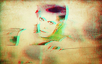 Mixed Media - Bowie by Jayime Jean