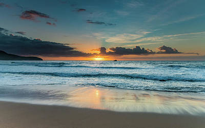 Photograph - Bright And Blue Sunrise Seascape by Merrillie Redden