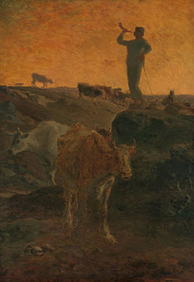 Painting - Calling The Cows Home by Jean-Francois Millet