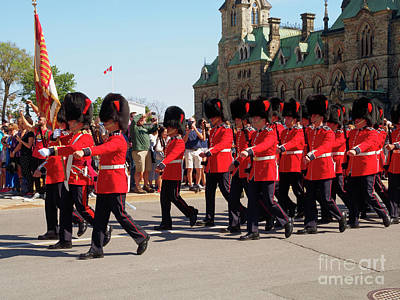 Photograph - Changing Of The Guard In Ottawa Ontario Canada by Louise Heusinkveld