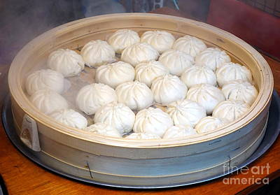 Photograph - Chinese Steamed Buns by Yali Shi