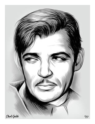 Beach House Throw Pillows - Clark Gable by Greg Joens