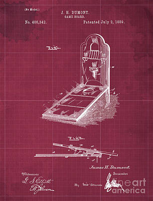 Royalty-Free and Rights-Managed Images - Classic Game Board Patent Year 1889 by Drawspots Illustrations