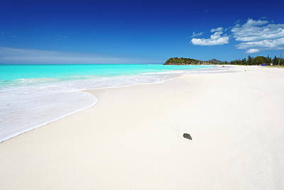 Antilles Photograph - Clean White Caribbean Beach With Blue by Michaelutech