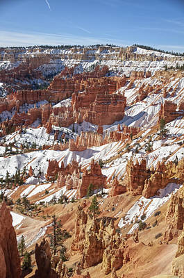 Abstract Airplane Art Rights Managed Images - Clear Bryce Canyon in Winter Royalty-Free Image by David Farlow