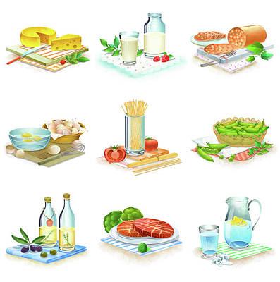 Close-up Of Food Stuff Art Print by Eastnine Inc.