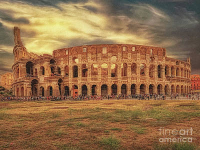 Photograph - Colosseo, Rome by Leigh Kemp