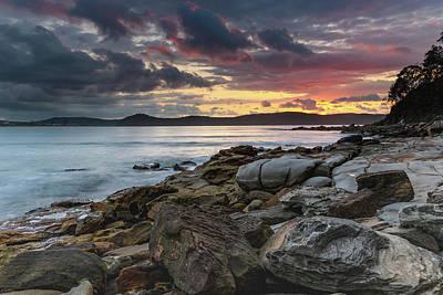 Colours Of A Stormy Sunrise Seascape Art Print