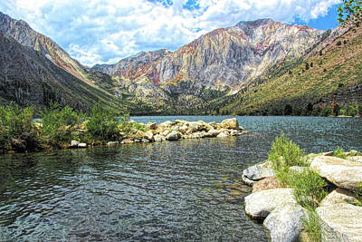 Digital Art - Convict Lake Marina by Joe Lach