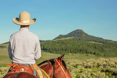 Photograph - Cowboy Back by Todd Klassy