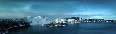 Photograph - Crater Lake In Winter by Terry Schmidbauer