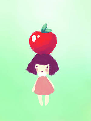 Everett Collection - Cute Cherry Girl by Jaime Enriquez