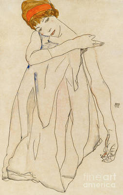Painting - Dancer  Die Tanzerin, 1913 by Egon Schiele