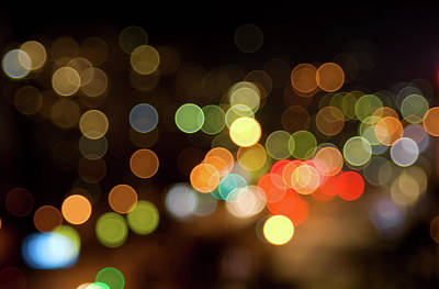 Photograph - Defocused Lights by Sunnybeach