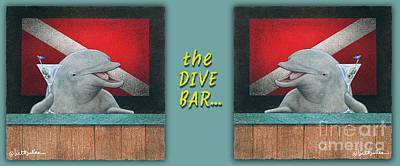 Painting - Dive Bar, The... by Will Bullas