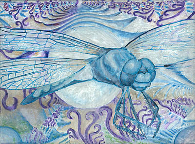 Dragonfly Moon Art Print