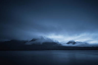 Whimsically Poetic Photographs - Early moring clouds over mountains and Lake Geneva by Jon Ingall