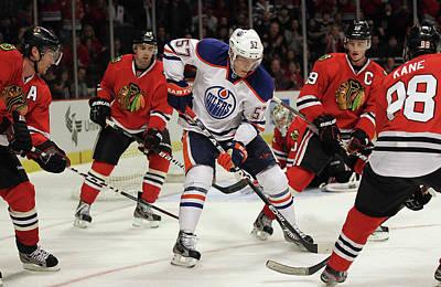 Photograph - Edmonton Oilers V Chicago Blackhawks by Jonathan Daniel