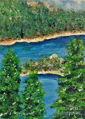 Painting - Emerald Bay Lake Tahoe by Laurie Morgan