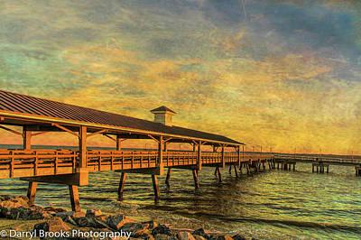 Travel - Empty Pier at Sunrise by Darryl Brooks