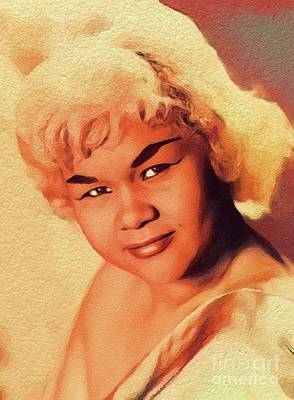 Music Royalty-Free and Rights-Managed Images - Etta James, Music Legend by Esoterica Art Agency