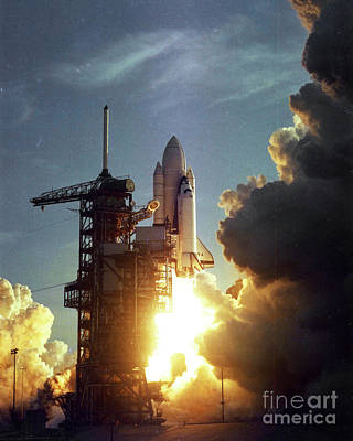 License Plate Skylines And Skyscrapers Rights Managed Images - First Space Shuttle Launch 1981 Royalty-Free Image by Atlas Photo Archive