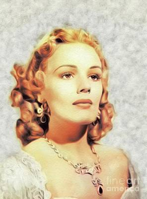 Music Paintings - Frances Farmer, Vintage Actress by Esoterica Art Agency