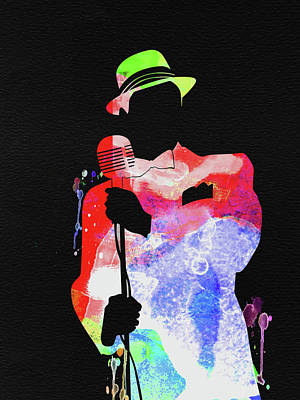 Frank Sinatra Wall Art - Mixed Media - Frank Watercolor by Naxart Studio