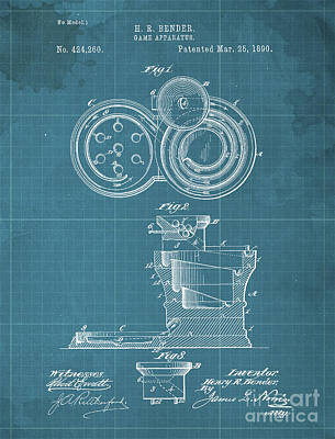 Royalty-Free and Rights-Managed Images - Game Apparatus Patent Year 1890 by Drawspots Illustrations