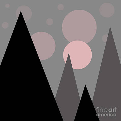 Fantasy Royalty-Free and Rights-Managed Images - Geometric landscape by Valentina Hramov