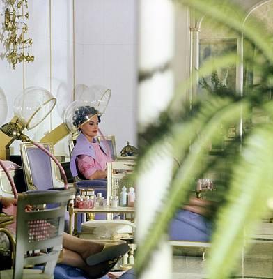 Photograph - Gloria Vanderbilt At The House Of Revlon by Horst P. Horst