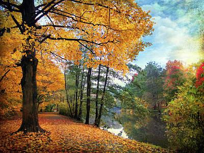 Golden Pond Wall Art - Photograph - Golden Carpet by Jessica Jenney