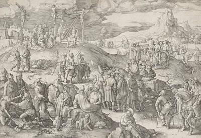 Relief - Golgotha by Lucas van Leyden