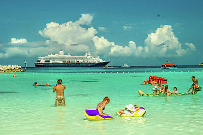 Christmas Patents Rights Managed Images - Half Moon Cay, Bahamas beach scene Royalty-Free Image by David Smith