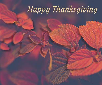 Wall Art - Digital Art - Happy Thanksgiving by Cynthia Leaphart