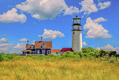 Vintage Pink Cadillac - Highland Light - Cape Cod by Peter Ciro