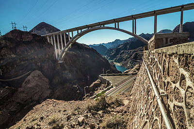 Photograph - Hoover Dam Nevada Arizona State Line Surraoundings by Alex Grichenko