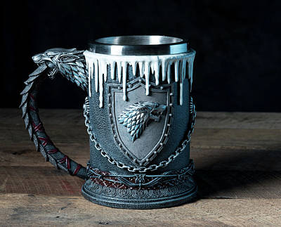 Photograph - House Stark Tankard From Game Of Thrones Series by Steven Heap