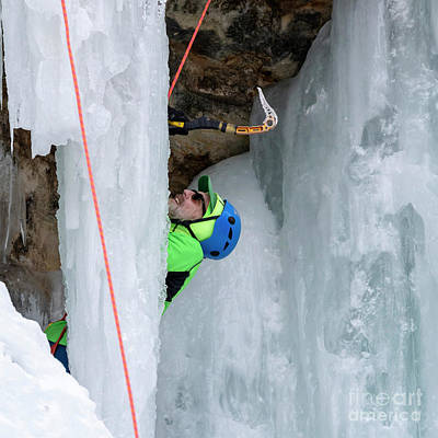 Photograph - Ice Climber by Jim West
