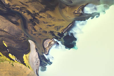 Abstract Photograph - Iceland Aerial View by Werner Van Steen