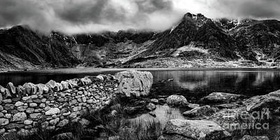 Photograph - Idwal Lake Snowdonia by Adrian Evans