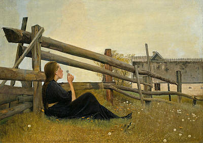 Painting - In The Month Of June by Laurits Andersen Ring