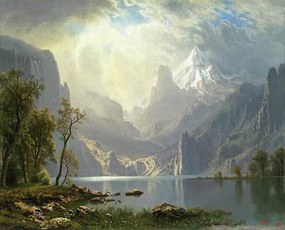 Painting - In The Sierras - Lake Tahoe by Albert Bierstadt