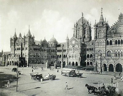 Photograph - India Railway Station by Granger