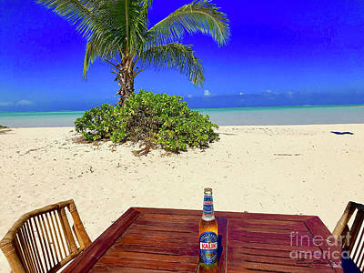 Beer Royalty-Free and Rights-Managed Images - Kamalame Beach  by Carey Chen