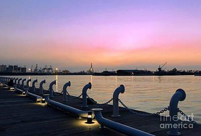 Photograph - Kaohsiung Port At Dusk by Yali Shi