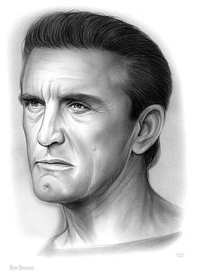 Drawing - Kirk Douglas by Greg Joens