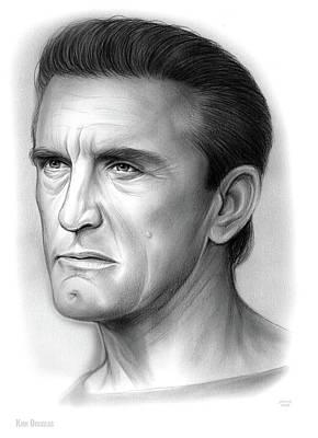 Drawings Royalty Free Images - Kirk Douglas Royalty-Free Image by Greg Joens