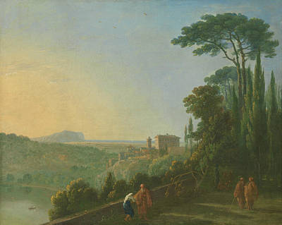 Painting - Lake Nemi And Genzano From The Terrace Of The Capuchin Monastery by Richard Wilson